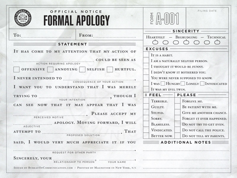 Writing a letter of apology to customer – Formal Apology Letter Example